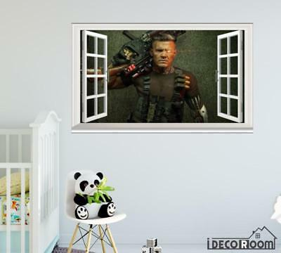 Cable Deadpool 2 Josh Brolin 2018  windows wall sticker
