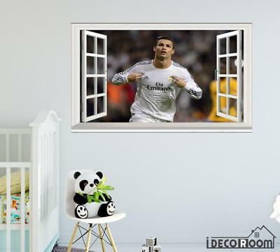 Cristiano Ronaldo Footballer player Soccer windows wall sticker