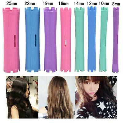 10Pcs Cold Wave Rods Perm Curly Hair Salon Long Hair Beauty 8 Colors Kit.US