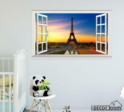 Eiffel Tower Paris France World windows wall sticker