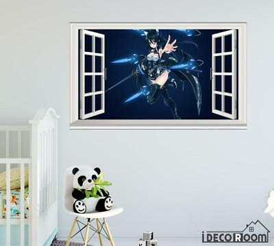 Floating swords Sword girl Anime girl Anime windows wall sticker