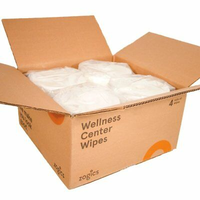 Zogics Wellness Center Gym Equipment and Surface Wipes (4 Rolls, 4,600 Wipes)