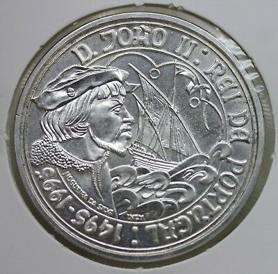 PORTUGAL 1995 SILVER COIN 1000 ESCUDOS/ DOM JOÃO II, KING OF PORTUGAL 500 Years