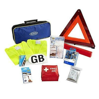 10 Piece European Travel Kit Car First Aid Kit Warning Triangle Ring RCT1