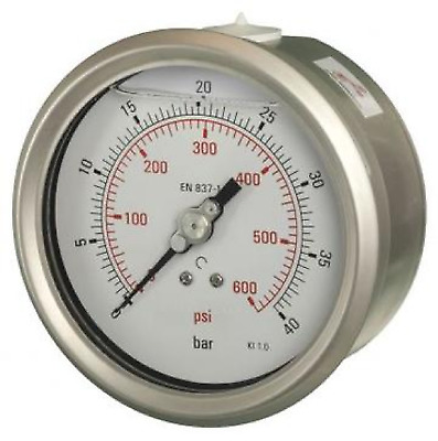 100mm Pressure Gauge - Back Entry Dry Fillable 1% Acc