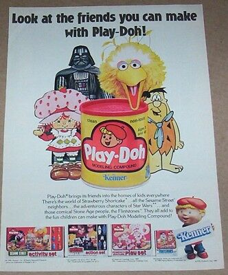 1981 print ad - Kenner PLAY-DOH strawberry shortcake Star Wars Darth Vader PAGE