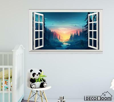 Memory Forest Minimal Creative Graphics windows wall sticker