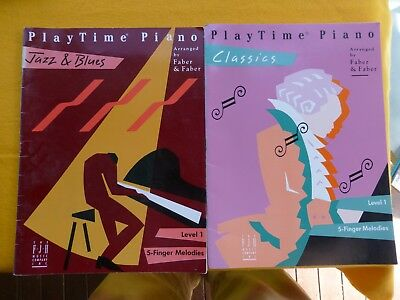 Playtime Piano  - 2 Books - Jazz & Blues / Classics  Faber & Faber