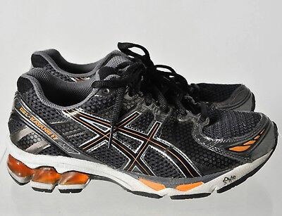 new arrival 71845 dc6ea Asics Gel-Kayano 17 C110N Mens Boys Black Running Training Shoes Sneakers  Size 5