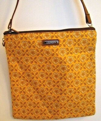 Longaberger Purse Handbag Golden Fields Fabric Crossbody