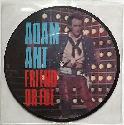 """Adam Ant  Friend Or Foe   1982 UK 7"""" Picture Disc   Excellent"""
