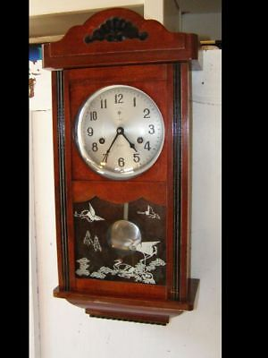 Old Polaris wall clock 2 hammers and 2 stems