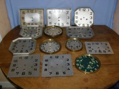 13 old dials for clocks and wall chimes