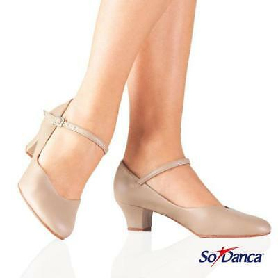 SALE - So Danca Character Shoe with 1.5 Heel - TAN - 30% Off