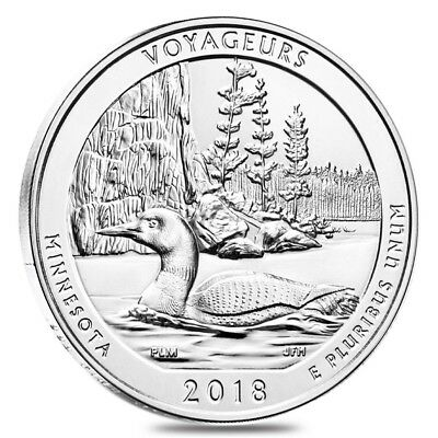 2018 5 oz Silver America the Beautiful ATB Minnesota Voyageurs National Park