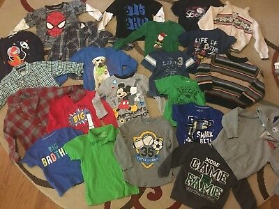 toddler boy clothes 3t lot- 39 items