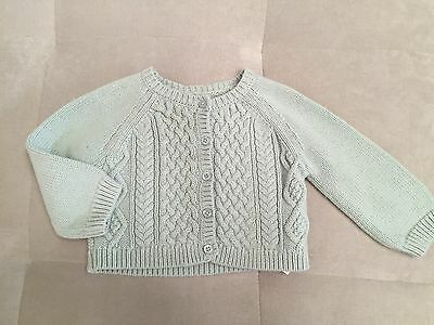 3facd6b0b5f8 GIRL SIZE 4T Baby Gap Toddler White Cable Knit L S Sweater Solid 4 ...