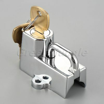 "1x 7/8"" Motorcycle Chrome Aluminum Helmet Lock w 2 Keys Set for Harley-Davidson"