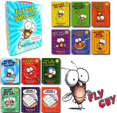 Fly Guy Phonics 10 Readers 2 Workbooks (Box Set,12 Paperbacks) FREE shipping $35