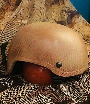 MSA Ballistic TC-2001 High Cut Helmet Special Forces 3 Hole Large Norotos Wilcox