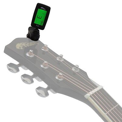 Clip-On Guitar Tuner - Chromatic Tuner for Guitar, Ukulele and Violin By Tiger
