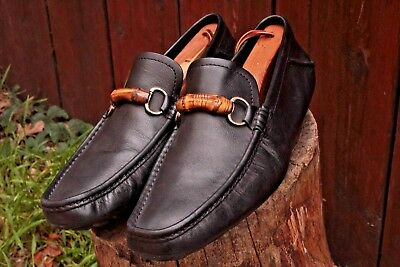 d8f63f15c9d Men s Gucci HorseBit Bamboo Driving Loafers Size 10.5 43.5 M D Black Leather  Moc
