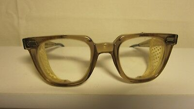 Vintage Hornrim Norton Safety Glasses With Side Mesh Steampunk Motorcycle