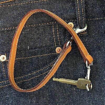 Keychain Lanyard in Natural Leather Made in USA by Mulholland Brothers
