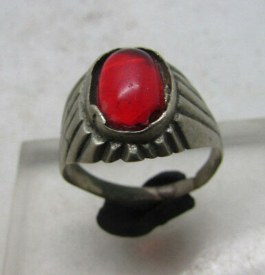 Beautiful Post Medieval Silver Ring With Stone Insert