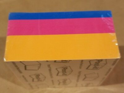 Post-it Notes Cube, 3 in x 3 in, Orange Wave, 400 Sheets/Cube, Free Shipping!!