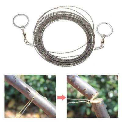 Metal Steel Wire Saw Bushcraft Hunting Camping EDC Emergency Survival Gear Tool