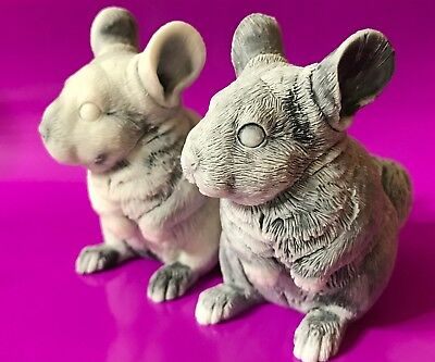 Chinchilla figurines marble chips realistic Souvenirs from Russia small animals