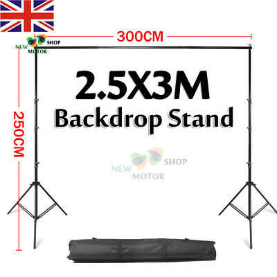 2.5x3m Largest Photo Studio Heavy Duty Backdrop Background Support Stand Kit Bag