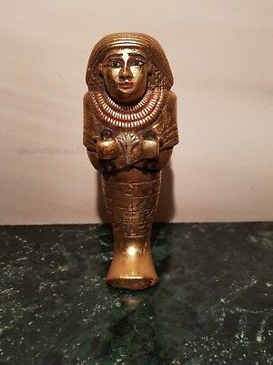 Rare Antique Ancient Egyptian Ushabti Works As Servant Water Gold1640-1560BC