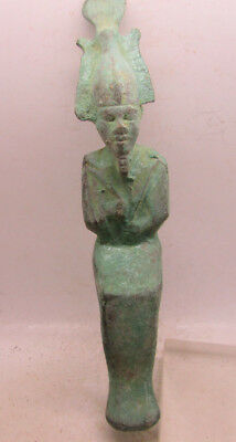 Superb Ancient Egyptian Bronze Statuette Of Osiris Extremely Rare