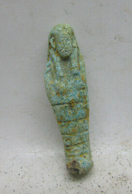 Ancient Egyptian Faience Ushabti Shabti Amulet Ptolemaic Period