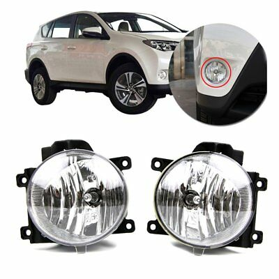 Pair Car Front Fog Light For Toyota RAV4 2013 2014 2015  Bumper Lamp With Bulb