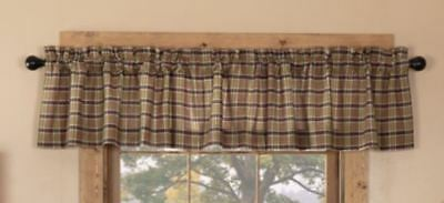 Wyatt Plaid Cotton Rustic Country Cabin Lined Window Valance