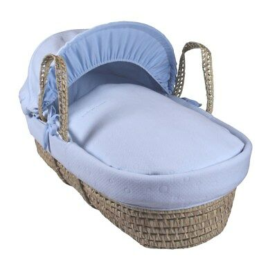 Clair de Lune Cotton Candy Palm Moses Basket- Blue