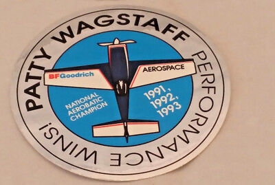 BF Goodrich Aerospace Patty Wagstaff Aerobatic Champion '91 '92 '93 Sticker Lot