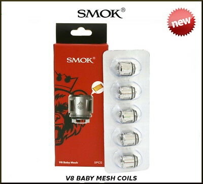 SMOK TFV8 Baby Mesh Coil Also Prince Baby - Pack of 5 - 100% Authentic Smok