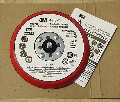 "3M 20352 Hookit Low Profile Sanding Backup Disc Pad Holder 5"" x 3/8"" x 5/16""-24"