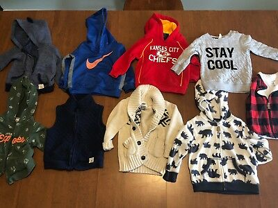 Lot of 18 Month Boys Heavy Jackets and Vests Nike
