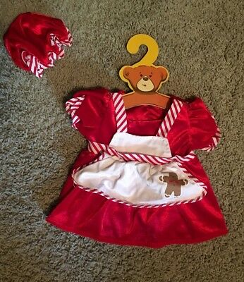 Build-A-Bear MRS CLAUS DRESS & HAT Teddy Christmas Clothes Outfit
