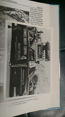 2 autographed photos of nascar driver Curtis Turner.