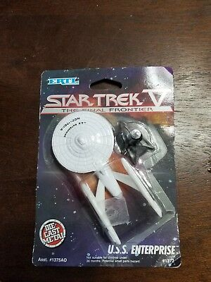 Ertl Star Trek V The Final Frontier USS Enterprise Die-Cast Metal 1989 MOC #1372