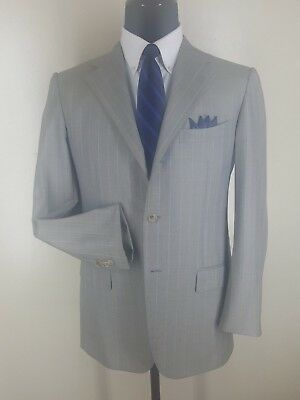 Ermenegildo Zegna Napoli Couture  Vtg Suit 3 Btn Side Vents  40R-Fit 42 Reg
