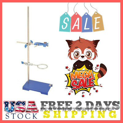Lab Scientific Tool Retort Ring Stand 20.0 x 12.5cm Base With Clamp And Ring