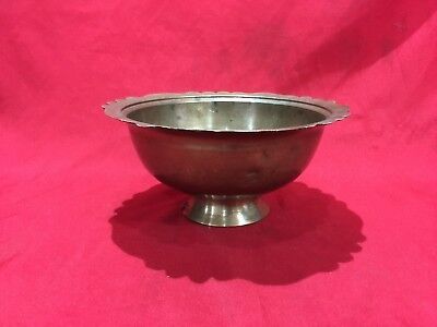 Antique Brass Bronze Ottoman Turkish Bowl Plate With Tughra