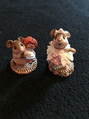 Wee Forest Folk Raggedy Ann (M-70) and Prima Ballerina Pink (M-162)
